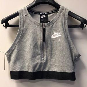 Nike zippered crop top